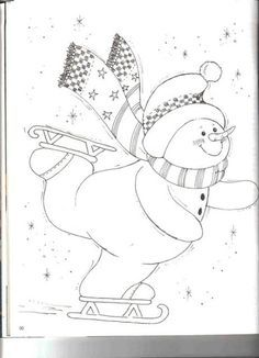 Christmas Coloring Pages - Snowman Christmas Coloring Pages, Coloring Book Pages, Christmas Colors, Christmas Snowman, Applique Patterns, Quilt Patterns, Snowman Quilt, Christmas Drawing, Theme Noel