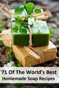 71 de las mejores recetas de jabones del mundo, hechas en casa - 71 Of The World's Best Homemade Soap Recipes