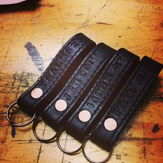 baysick leather firefighter keyfobs