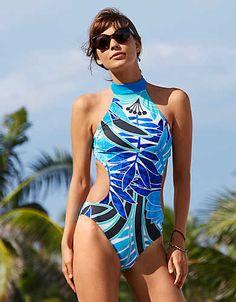 063b12ecd6 Aerie Hi-Neck One-Piece Swimsuit