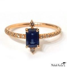Yellow Gold and Sapphire Ring