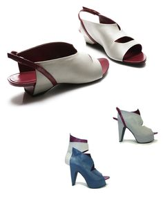 """From the 'Whats more alive than you""""  Spring 2013 collection, designer Florance Girault, France. Inspired by the Guillotine hence the name 'Madame Guillottine'. The boot is especially cutting edge in a lovely way. Who would have thought any reference to the guillotine would be so beautiful :)"""