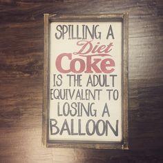 Spilling a Diet Coke