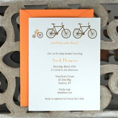Bicycle Baby Shower Invitation. Shower Invitations. by DeanPenn, $18.00