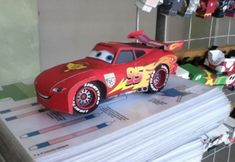 Rayo McQueen, imprimible en 3D GRATIS Unicorn Baby Shower, Baby Boy Shower, Disney Family, Baby Shower Cakes, Baby Shower Themes, Shower Ideas, Tow Mater Cake, Baby Shower Unicornio, Cars Disney Pixar
