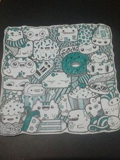 Own doodle #Green Hope everyone like it! Thanks for Zainab Kan a.k.a. Piccandle! #Doodle