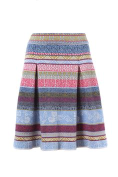 Jacquard Skirt with Pleats - Skirt | Ivko Woman