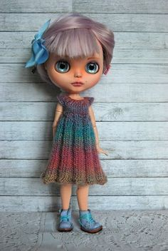 Over the Rainbow - Blythe Doll Knitted Dress