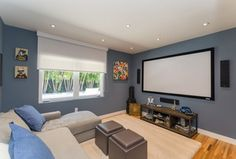"""""""View this Great Home Theater with Hardwood floors & High ceiling in Coral Gables, FL. The home was built in 1955 and is 1949 square feet. Discover & browse thousands of other home design ideas on Zillow Digs."""""""