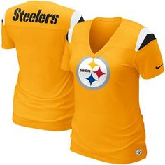 Nike Pittsburgh Steelers Ladies Fashion Football Premium T-Shirt #Footballfortheladies
