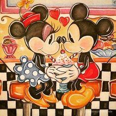 Mickey et Minnie.