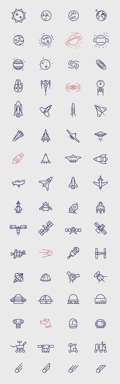 Space Icons. Pinning for later reference, web design freebies!