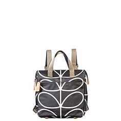 Giant Linear Stem Print Small Backpack Liquorice