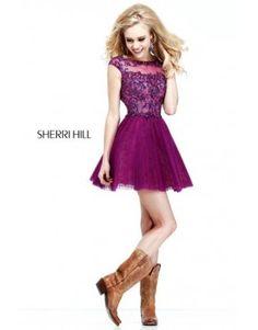 Sheri Hill 21032 Homecoming Dresses Fuchsia