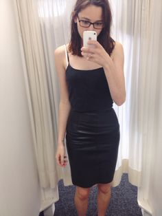 Opshop score today- vintage leather pencil skirt