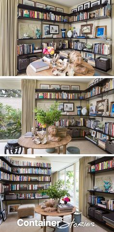 See how a catch all room is transformed into a beautifully organized library retreat, with elfa from The Container Store.