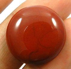 16.55CT ATTRACTIVE NATURAL RED JASPER 20mm ROUND CAB LATEST QUALITY GEMSTONE #Shining_Gems