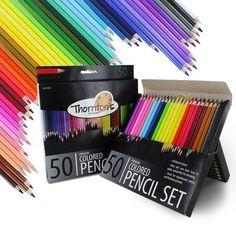 Thornton's Art Supply Premium Colored Pencil (50 Pack)