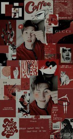 Bts Wallpaper, Iphone Wallpaper, Leader Bts, Scared To Love, Aesthetic Lockscreens, Bts Rap Monster, Bts Aesthetic Pictures, Bts Korea, Bts Chibi