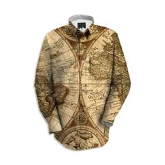 Ancient Map Work Shirt - Available Here: http://printallover.me/products/0000000p-ancient-map-5