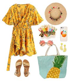 """summer days driving away, but oh the summer nights"" by mxgvi ❤ liked on Polyvore featuring Billabong, Kate Spade, Celebrate Shop and ban.do"