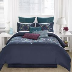 The Modern Living Bianca Bedding Set with Optional Pillows is perfect for those who want rich color, style, and comfort in their bedroom. Twin Comforter Sets, Bedding Sets, Queen Bedding, King Comforter, European Pillows, Couple Bedroom, Bedding Collections, Bed Spreads, Home Kitchens