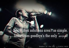 Linkin Park | Shadow of the Day | lyrics | music | Sometimes solutions aren't so simple. Sometimes goodbye's the only way..