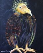 """""""Trying To Be Patient"""" buzzard, vulture www.debbiemcculley.com"""