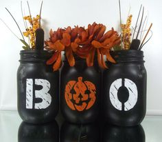 Hey, I found this really awesome Etsy listing at https://www.etsy.com/listing/201871677/halloween-themed-painted-mason-jars