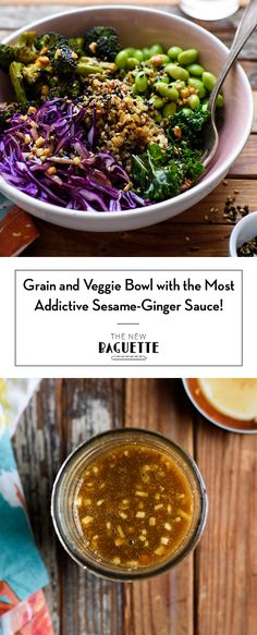 My Go-To Healthy Grain Bowl with Charred Broccoli and Sesame Ginger Sauce | Easy Vegan Recipes