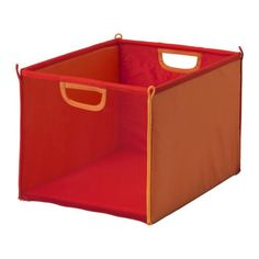 """""""KUSINER Box IKEA Practical storage for all small things. Can be folded to save space when not in use.""""  KUSINER Box - red/orange - AU $9.95 @ IKEA - Kids' small storage section. :)   I have one of each colour, but I may need more. They are REALLY USEFUL!"""