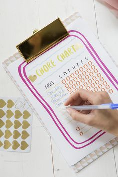 free downloadable template for a cute kids chore chart
