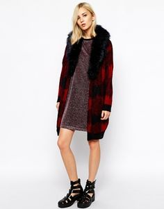 Order River Island Check Cardigan With Faux Fur Collar online today at ASOS for fast delivery, multiple payment options and hassle-free returns (Ts&Cs apply). Get the latest trends with ASOS. Faux Fur Collar, Buffalo Plaid, River Island, Fashion Online, Fur Coat, Asos, Jackets, Clothes, Beauty