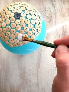 button dish idea | mod podge balloon craft