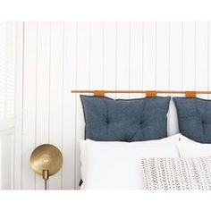 putting in wood paneling might not be at the top of your list for a modern home but this clean version done with bender board was just what our guest bedroom needed to cover some unsightly walls and give it a more polished look with a little personality. DIY details on the blog today (link in profile) #samuelaframe #sssinteriors #sssdiy...p.s. DIY info on the headboard and full room reveal to come! #panelingwallsmodern