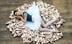 Dancer Yasmine Naghdi launching the Royal Ballet's competition to guess how many pairs of pointe shoes a professional ballerina gets through in a week