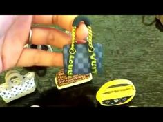 Tiny polymer clay Louis Vuitton purses!!! Epic!