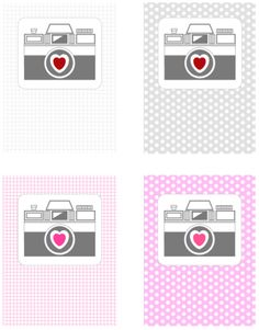 Free printable camera journal cards