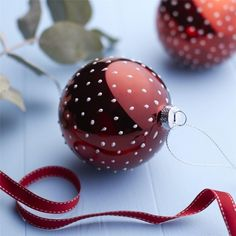 Red Mini Spot Bauble