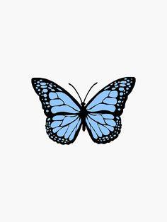 Pegatina ''mariposa azul' de melmggn