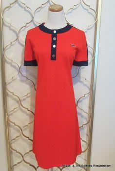Vintage 1960s Lacoste Polo Dress David Crystal Mod Izod by linbot1, $40.00