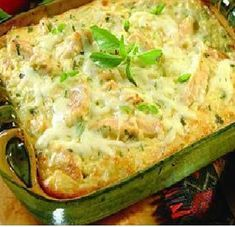 2 cups cooked rice 2 cups (8 ounces) shredded Monterrey Jack cheese 1 1/2 cups cooked, chopped chicken breast meat 1 can (12 fluid ounces) Reduced Fat Evaporated Milk 1/2 cup finely chopped red oni...