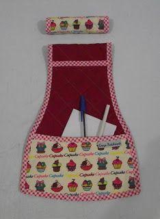 Graça Patchwork: Capa para puxador de geladeira e porta recados