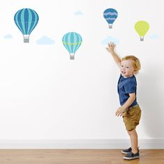 Hot Air Balloon Fabric Wall Stickers  Wall by NestAccessories