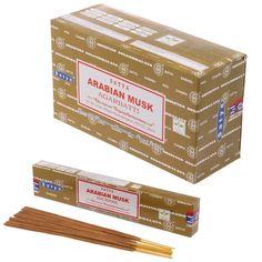 Satya+Nag+Champa+Incense+Sticks+-+Arabian+Musk+(12+Packs)