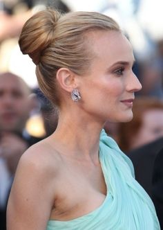 Diane Kruger Sleek Sophisticated Bun Updo Hairstyle