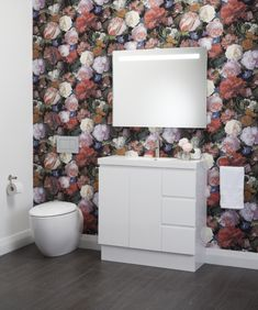 Wallpaper is a popular choice for adding texture and interest to create a striking feature.
