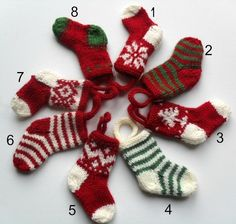 Knitted Christmas Socking