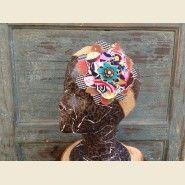 Stella Frayed Flower on Burlap Hair Wrap. $28.00