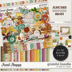Grateful Bundle by Digilicious Design! Save over 40% when you purchase this huge bundle and get a free gift too!  Grab any of the individual Grateful items today while they're on sale!! #grateful #digilicious